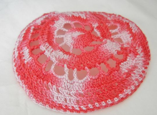 Ladies Crochet Lace Kippah / Hair Covering for Women Rose / Pink ...