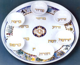 The Story of Passover Ceramic Seder Plate By Eckstein - Set of 7 & The Story of Passover Ceramic Seder Plate By Eckstein - Set of 7 ...
